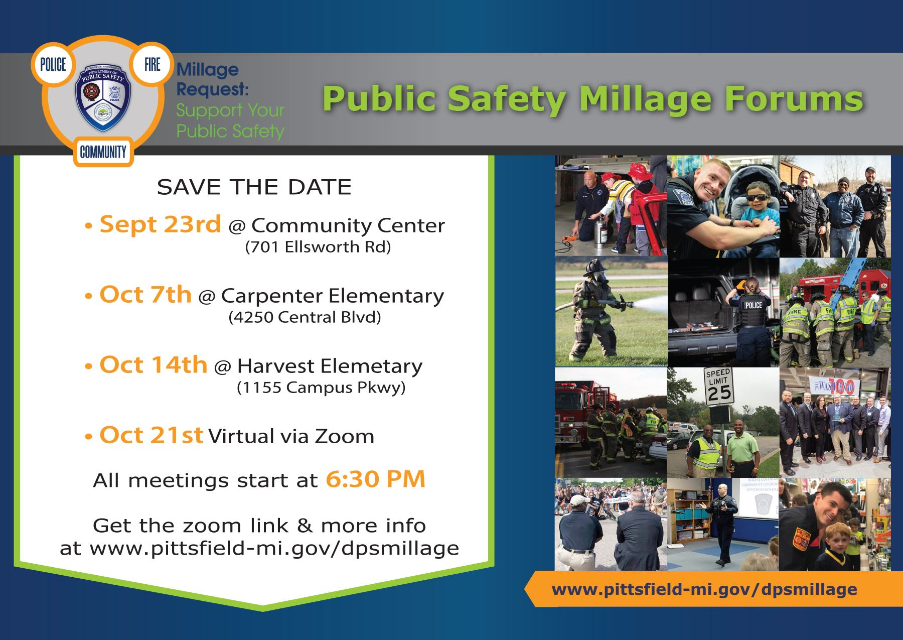 Public Safety Millage Forums Postcard Opens in new window