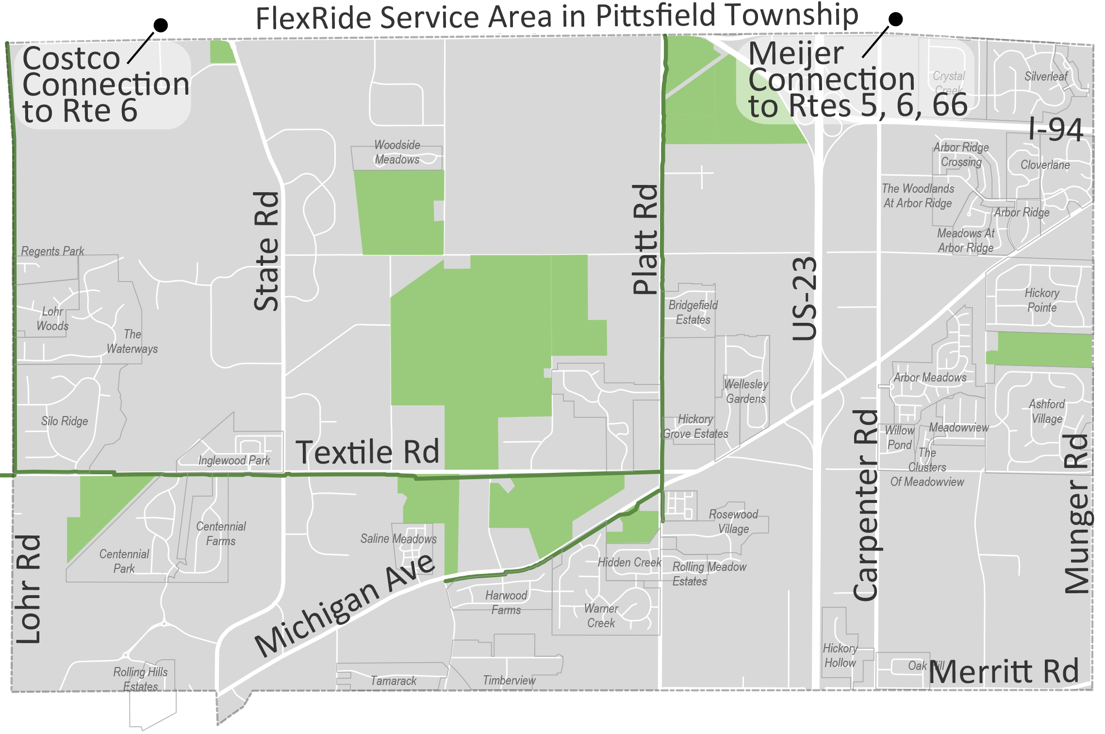 FlexRide Service Area