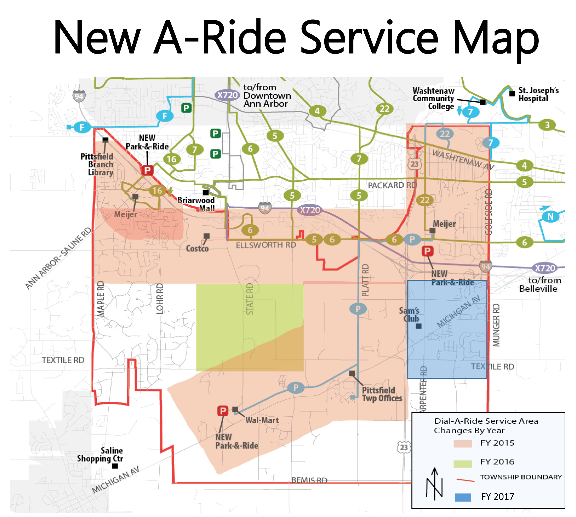 a ride service map