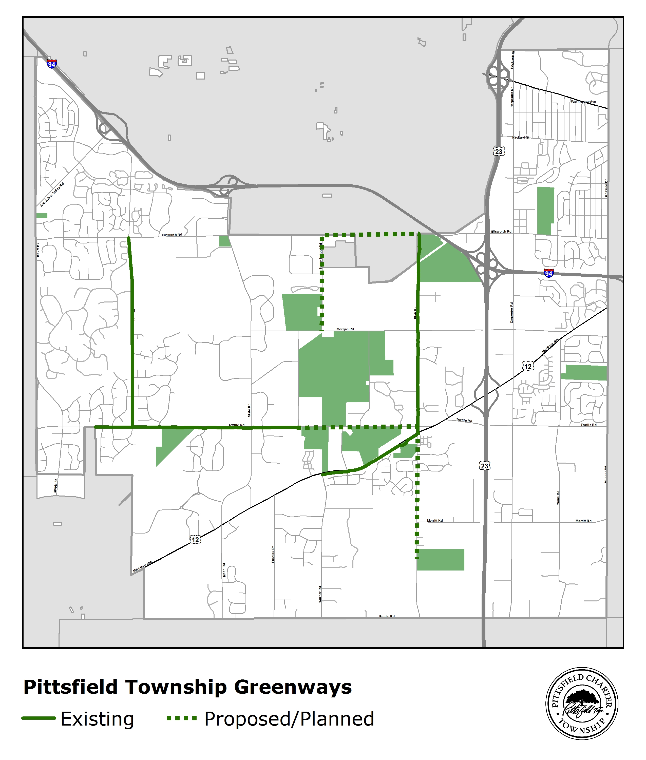 Proposed Greenway Expansion Map