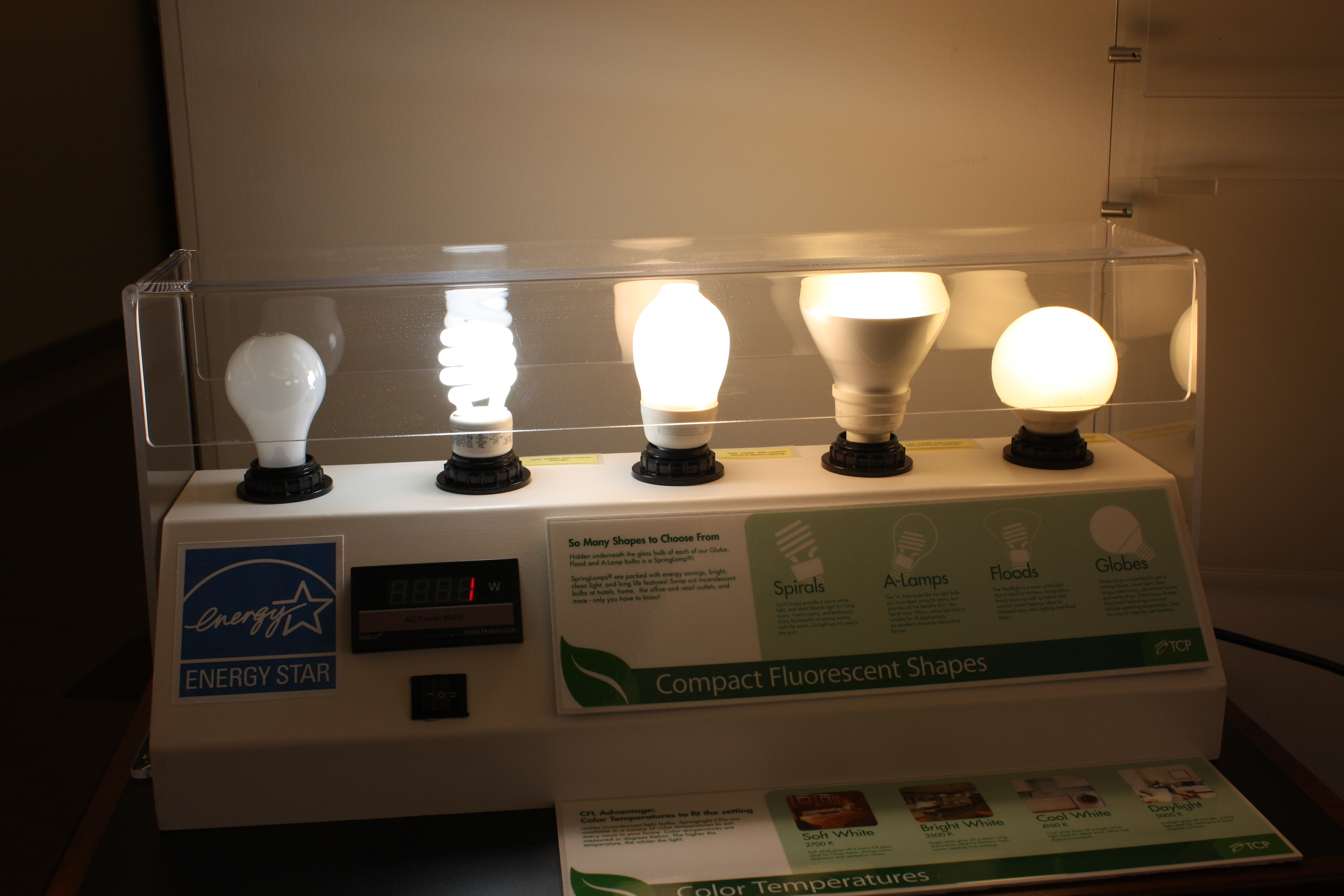 cfl bulb display