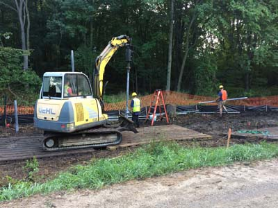 Ellsworth path construction
